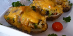 Fırında Krem Peynirli Patates